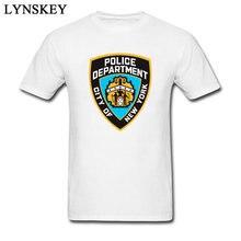 26504cc17 2018 مخصص الرجال تي شيرت نيويورك قسم الشرطة شعار الرجال غير تقليدي صالح  سليم ملابس علوية