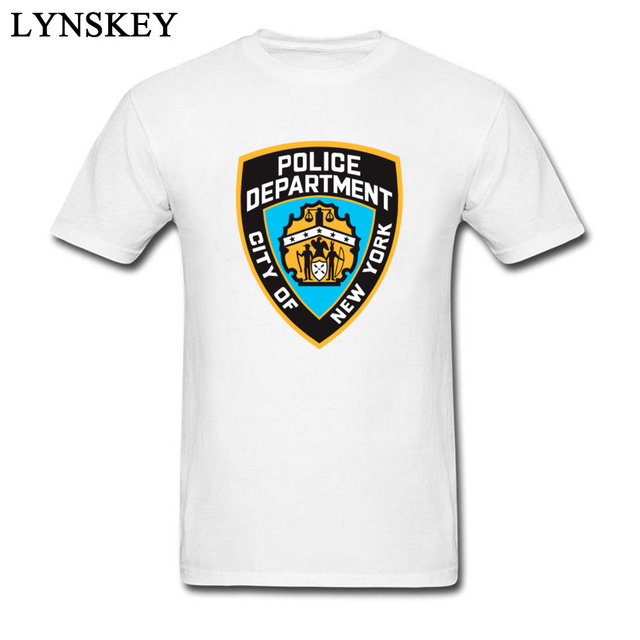 e70b5ace 2018 Custom Men T-Shirt New York Police Department Logo Men's Funky Slim  Fit Pure Cotton Tops Tees Big Size White/Black XXXL