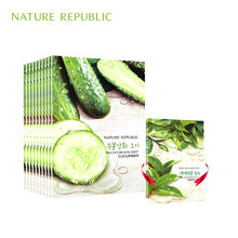 korean Facial Mask Nature Republic Sheet Mask Cucumber Moisturizing Oil Control Blackhead Remover Wrapped Mask Face Care