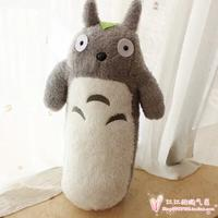 60cm cartoon lovely cylindrical totoro plush toy soft pillow, birthday gift h847