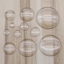 20pcs Round Flat Back Clear Glass Cabochon 8mm 10mm 12mm 14mm 16mm 18mm 20mm 25mm 30mm 35mm 40mm Jewelry Findings(China)