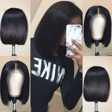 """Rebecca bob lace front wigs For Black Women Peruvian short human hair wigs ombre human hair wig Middle Part 10"""" Free Shipping"""