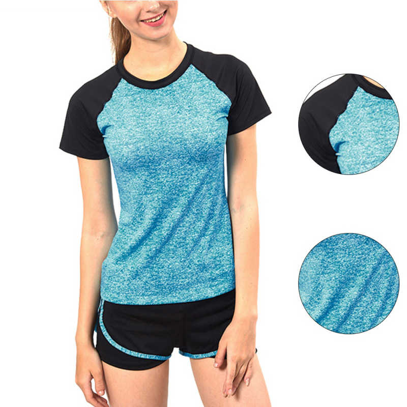 Women Quick Dry Sports Running T-shirt Short Sleeve Fitness Yoga Gym Fitness Tennis Badminton Jogging Exercise Tops