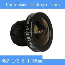 PUAimetis 8MP/1/2 5 HD 1.55mm CCTV lens balıkgözü panoramik gözetim kamera 185 derece geniş açı kızılötesi M12 lens iplik