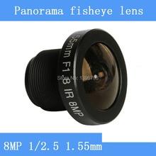 PUAimetis objectif CCTV 8MP 1/2.5 HD 1.55mm fisheye