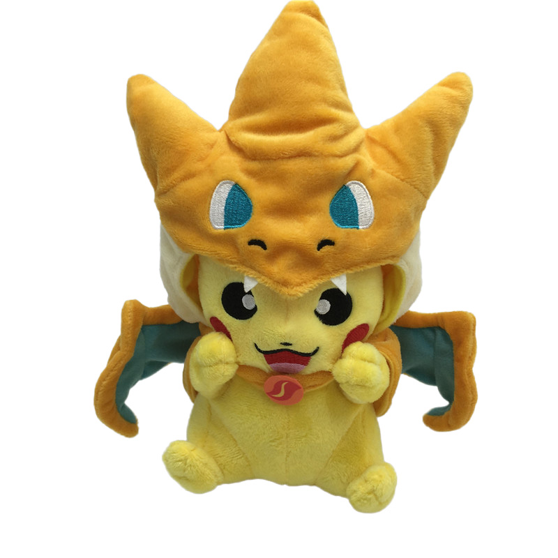 Hot Pikachu Cosplay Mega Charmander Plush Toys Cute Kawaii Animals Soft Dolls & Stuffed Toys Cartoon Plush Dolls for Kids Gift cute bulbasaur plush toys baby kawaii genius soft stuffed animals doll for kids hot anime character toys children birthday gift