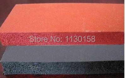 500X500X6mm, Good Quality Silicone Sponge Sheet for Heat Transfer Print & Mechanical Sealing Closed cell Foam Silicon Sheet, RED paisely print sheet set