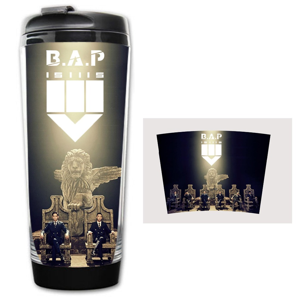 HOT SALE bap b a p Models Double Insulation Plastic Good Quality Mug Coffee Cup Space
