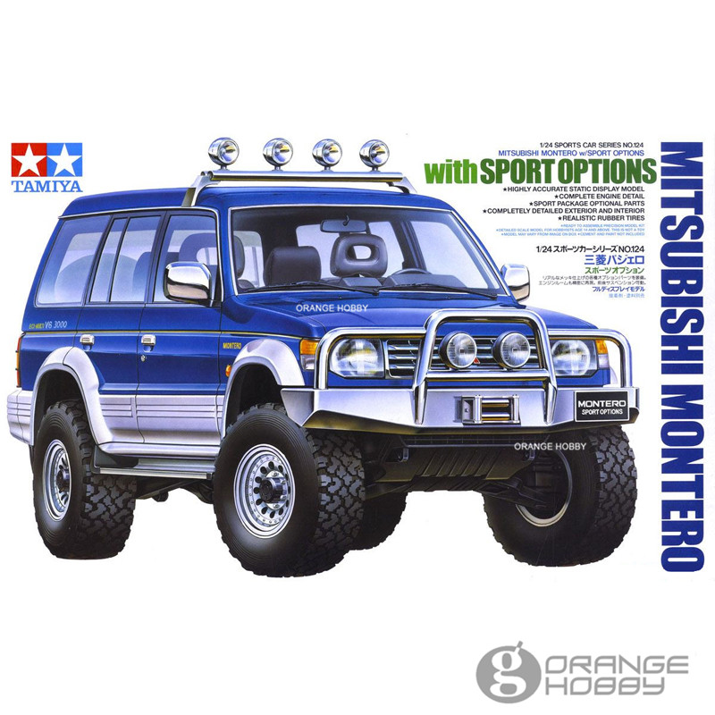 OHS Tamiya 24124 1/24 Montero w/Sport Options Scale Assembly Car Model Building Kits ohs tamiya 60102 1 35 tyrannosaurus diorama set assembly scale dinosaur model building kits