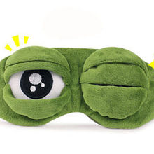 Дорожная 3D маска для глаз лягушка, мягкая маска для сна, расслабляющая маска для глаз с повязкой на глаза
