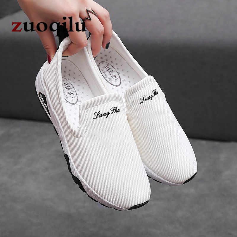 Düz ayakkabı kadın sneakers beyaz nefes kadınlar kanvas ayakkabılar vulkanize ayakkabı ayakkabı bayanlar kadınlar rahat ayakkabılar 2019