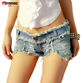 2017 Summer New Women Low Waist Denim Shorts Fashion Leisure Sexy Cave Nightclub Shorts
