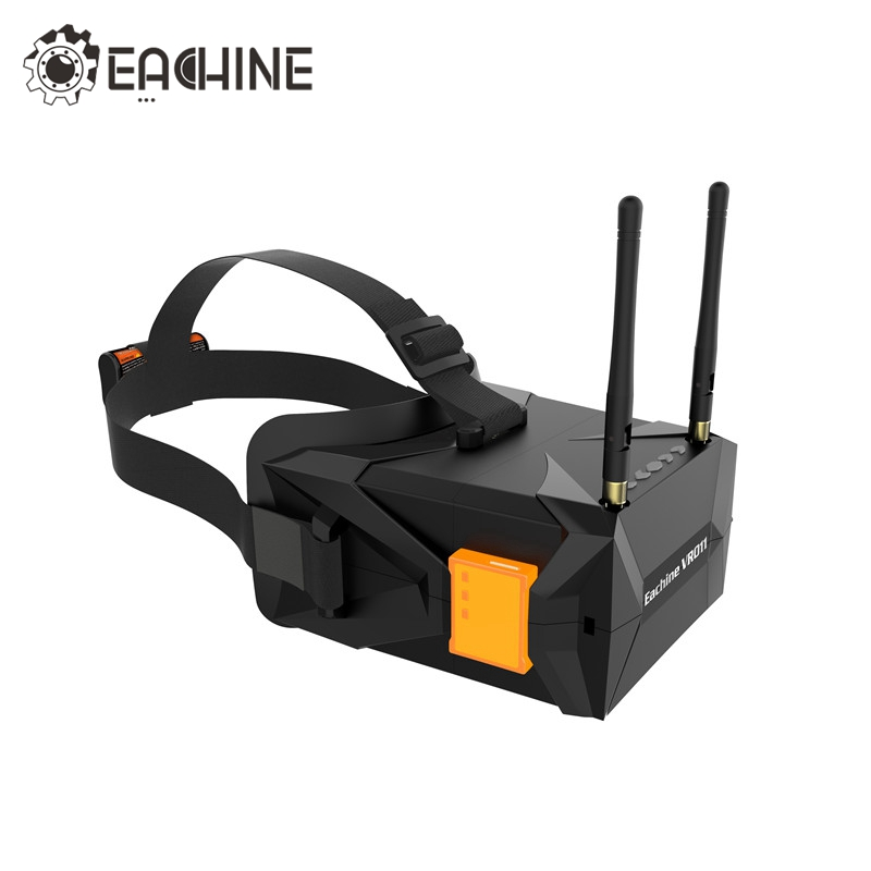 In Stock! Eachine VR011 5 Inches 800x480 Diversity FPV Goggles 5.8G 40CH Raceband + Pro DVR VS VR D2 EV800D for RC Racing Drone original aomway rx006 dvr video recorder 5 8g 48ch diversity raceband a v receiver for rc multicopter antenna transmitter part