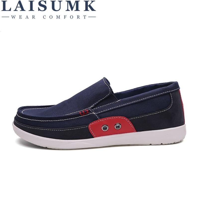 Travail bleu On Laisumk en 2019 gris Chaussures Mâle Bleu Casual Gomme Marine De Respirant Hommes Cuir army Automne Printemps Toile Slip Green Non Bas marron TwdqZgd