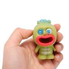 Alien S quishy Stress Reliever Fun Gift Sticking Tongue Toy Big Mouth Slime Toy For Children(China)