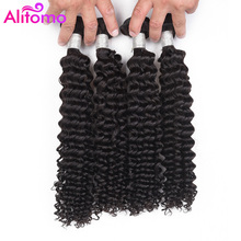 Alitomo Malaysia Deep Wave Hair 4 Bundles Non Remy Hair Weft Weave Extensions Natural Color Can By Dyed 100 Human Hair cheap 4 pcs Weft =15 All Colors Malaysia Hair Non-remy Hair