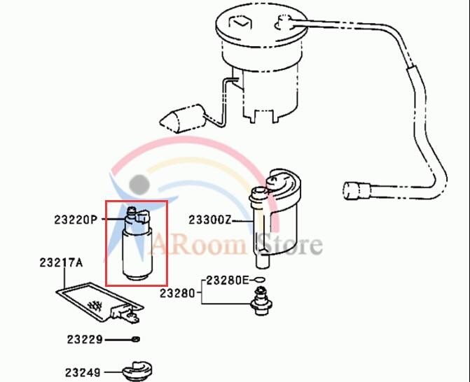 23221 0d010 23221 0d011 Electric Fuel Pump For Toyota Corolla Nap