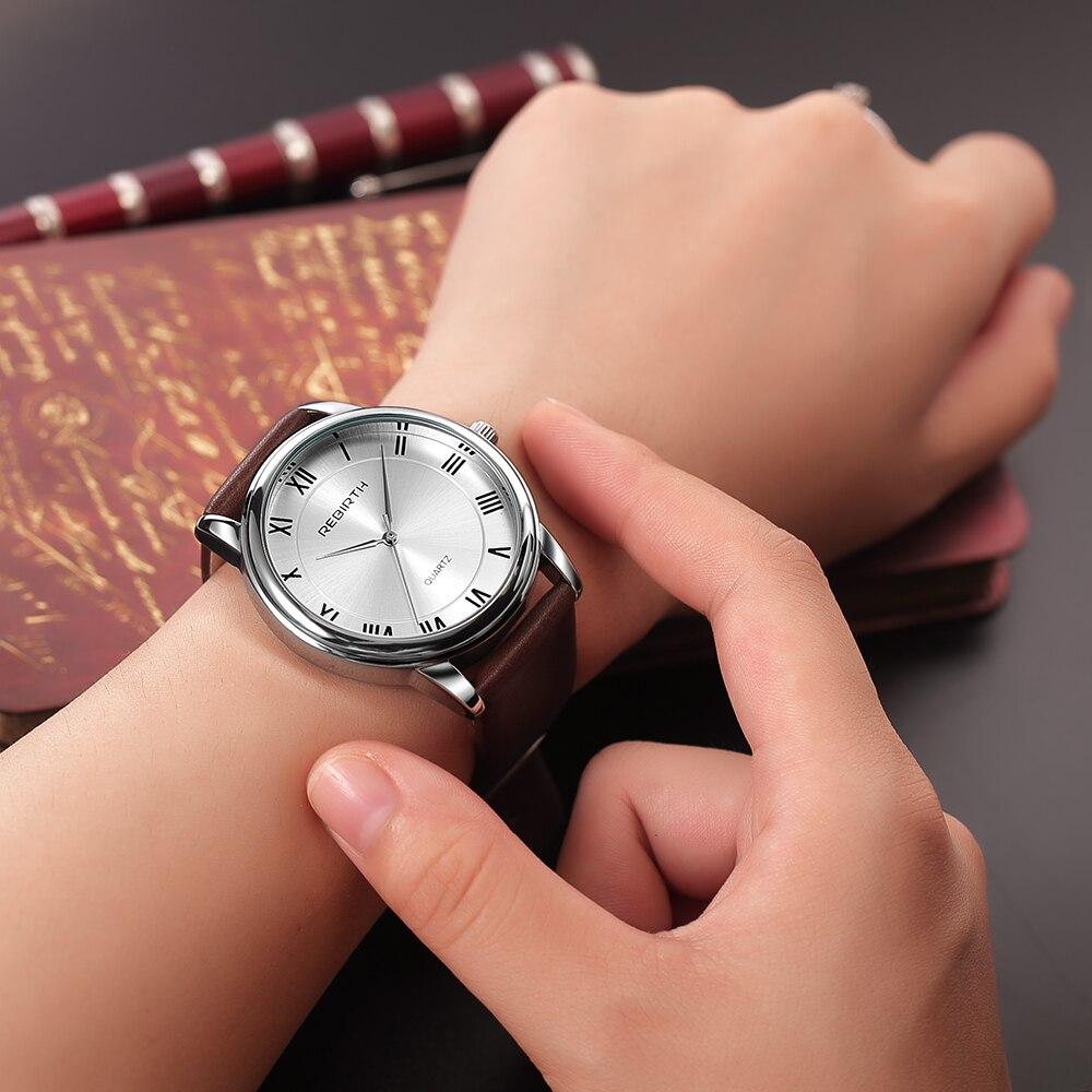 Women Fashion Simple Style Quartz Watch Clock REBIRTH Waterproof Personality Rome Moment Casual Women's Wristwatches Reloj Mujer