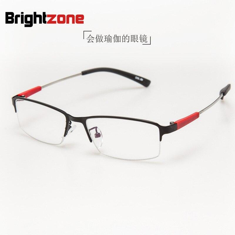 2017 Novo Padrão de Memória de Metal Armação de óculos Masculino Óculos de  Meia Armação de Assuntos de Negócios Exceda Óculos de Armação Tendência Da  Moda ... d888873e52