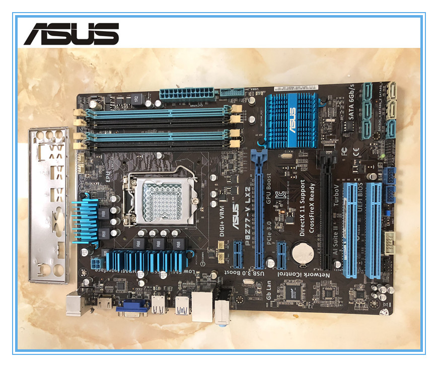 ASUS original motherboard P8Z77-V LX2 DDR3 LGA 1155 for I3 I5 I7 CPU USB3.0 32GB Z77 Desktop motherboard Free shipping used asus motherboard p8z77 v lx lga 1155 ddr3 i3 i5 22 32nm cpu usb3 0 32gb sata3 vga hdmi z77 desktop motherboard