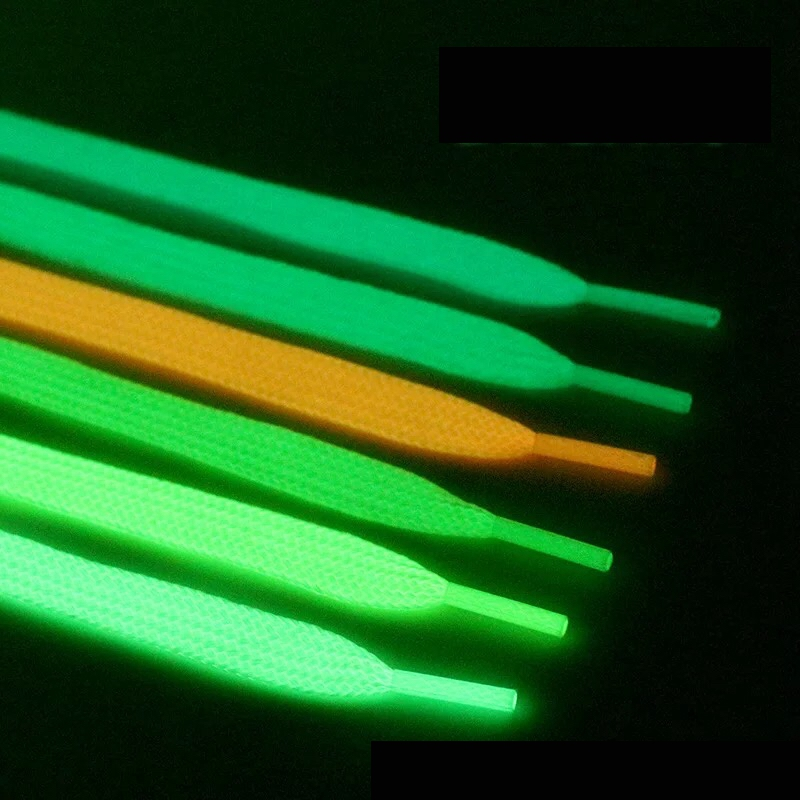 1Pair Sport Luminous Shoelace Athletic Sport Flat Shoe Laces Glow In The Dark Night Color Fluorescent Shoelace Free Shipping YG2