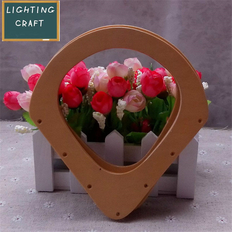 17.5cm Wooden Arc Shape Original Color Handles For Sewing and Craft DIY