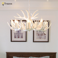Antlers Resin Chandelier Lamp Modern White Antler Chandelier Lustre Chandeliers E14 Vintage Lights Novelty Lighting