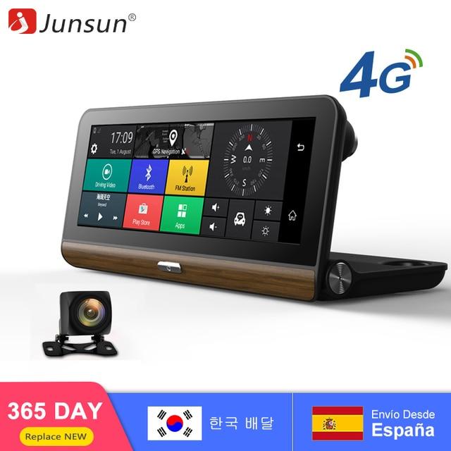"Junsun E31 Car DVR Camera 4G compatible con más 7.80 ""Android 5.1 GPS BT Dash Cam Registrar Video Recorder con dos cámaras"