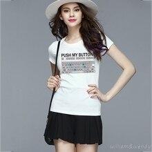 Women Harajuku Geek White Fitness T shirt For Girl Short Sleeve Top Tee White K-pop Kawaii Plus Size Tumblr Fashion Clothing 4XL