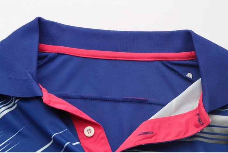 New men badminton shirts,women Lapel with short sleeves quick-drying breathable table tennis jersey,men table tennis t-shirts