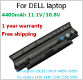 4400mAh laptop battery for dell n5010 for inspiron n5010 rechargeable battery for dell n7010 n4050 n5050 Vostro 1450 1550 3450
