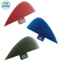 SUP Surf Paddling black Center Kneel Fin Fibreglass Fins Quilhas FCS VS Knubster Keel Set X Small