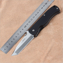 High Quality 58HRC 7Cr17Mov blade G10 handle tactical pocket folding knife hunting camping outdoors tool