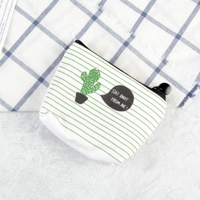 ISKYBOB 1PCS Small Cute Kids Coin Wallet Women Coin Purse Money Pouch Cactus Change Pouch Key Holder Bag Coin Purses & Holders