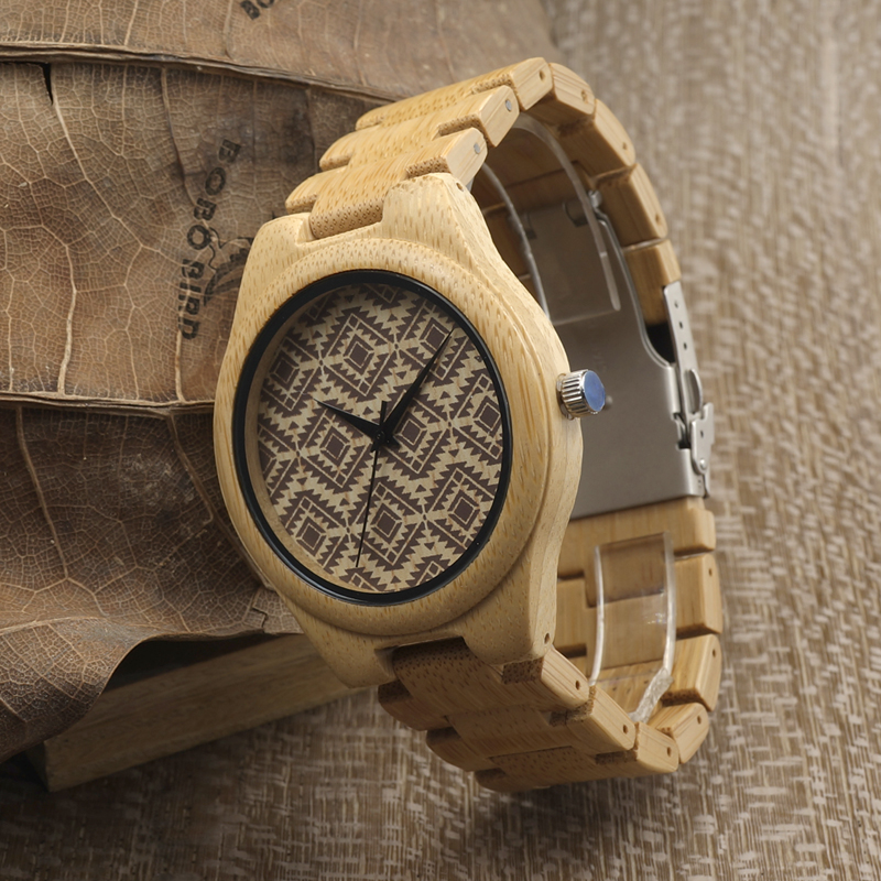 2017 BOBO BIRD Bamboo Men Watch Handmade Wood Watches Brand Luxury Wood Band Mens Wrsitwatches relogio masculino C-I28