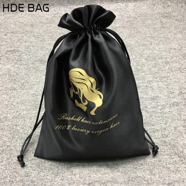 סאטן תיק עבור תכשיטי אריזה/איפור/מתנה/חתונה/מסיבה/אחסון/שיער/שקית נעליים משי בד שקית כיס כיס מותאם אישית לוגו הדפסה