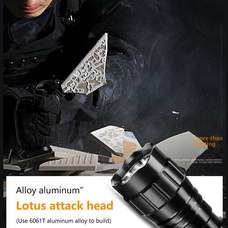 Aluminium Tactical Portable Waterproof Q5 Green LED 18650 Tactical Flashlight Torch Lamp Hunting Light