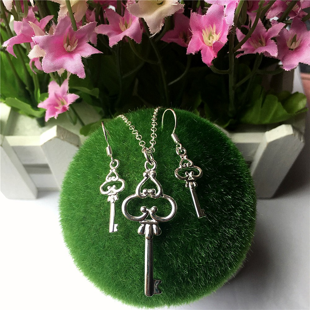 Pendant Necklace Jewelry-Sets Earrings Romantic Party-Gift Women 3pieces/Set European