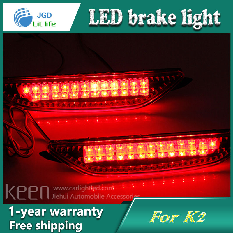 Car Styling Rear Bumper LED Brake Lights Warning Lights case For KIA K2 Accessories Good Quality car styling rear bumper led brake lights warning lights case for mazda atenza accessories good quality