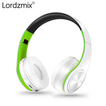 цена на Wireless Bluetooth Earphone Headset Stereo Headphone Earphones with Microphone TF Card for Mobile Phone Music lordzmix