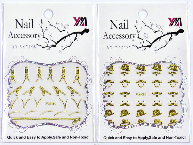 1 Sheet Adhesive 3D Nail Stickers Decals LOVE Art Letters Designs Nails Art  Tips Decorations Tools
