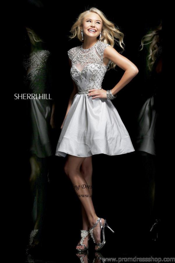 Silver Black White Beaded Cap Sleeve Short Homecoming Dresses 2015