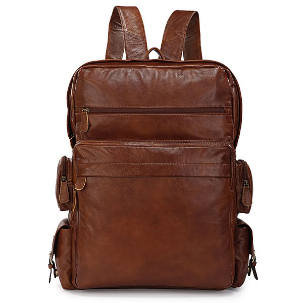 Augus Genuine Leather New Design Daily Backpack Unisex School Bag Classic And Vintage Shoulder Bag For Yong 7078B блуза jacqueline de yong jacqueline de yong ja908ewxaf30