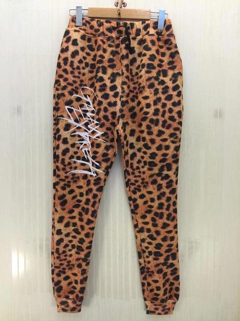 HOT! novas mulheres/homens 3d calças casuais grãos Leopardo letras 3D impresso Cintura Elástica calças Compridas tamanho s-xl p14
