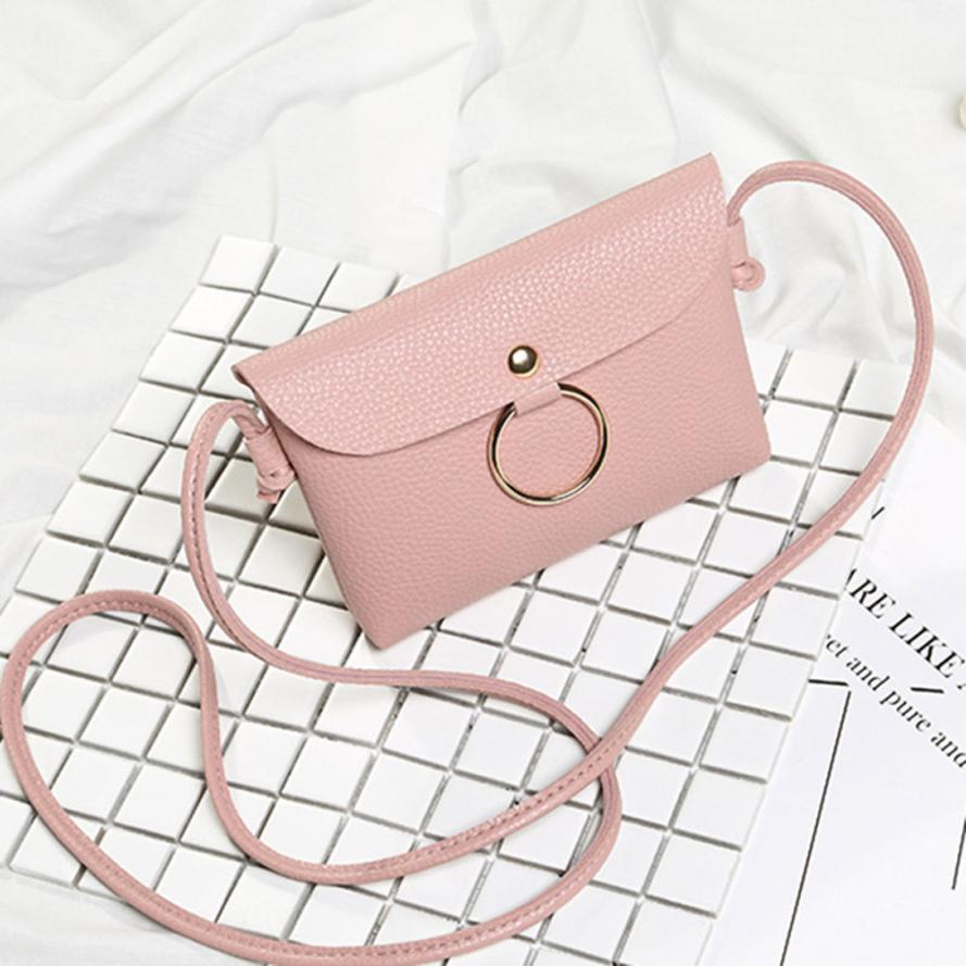 Женские Модные кожа PU кольцо личи сумка через плечо сумка Ms. однотонная одежда крышка небольшой площади сумка # F