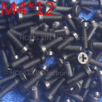 M4*12 Black 12mm 1pcs Round Head nylon Screw plastic bolts brand new RoHS compliant Fasteners Assortment PC/board DIY