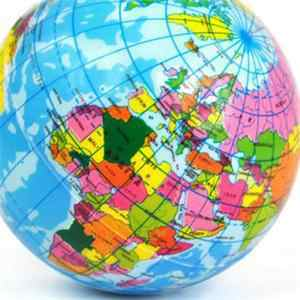 Nova 2020 de Alta Qualidade Earth Globe Stress Relief Bouncy Bola de Espuma Bola Geografia Mapa Do Mundo Crianças C3