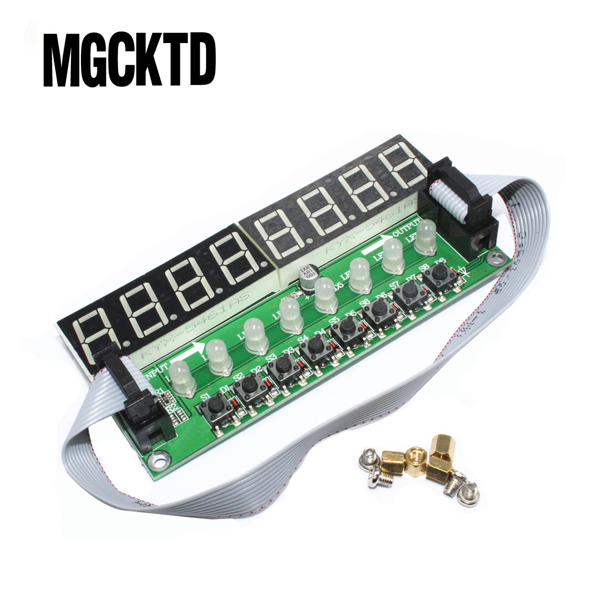 F71A 8* Digital Tube + 8* Key + 8* Double Color LED Module TM1638 Can be Cascaded Replace CH452 / MAX7219 Integrated Circuits(China)