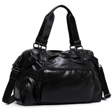 Купить с кэшбэком DIOULAORENTOU Vintage Men Messenger Bags High Quality Soft Pu Leather Solid Hand Bags Large Capacity Travel Bags Handsome Man
