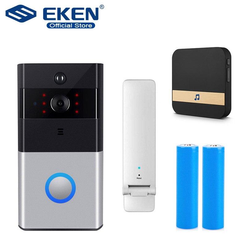 EKEN IP Video Intercom WI-FI Video Door Phone Door Bell WIFI Doorbell Camera For Apartments IR Alarm Wireless Security Camera